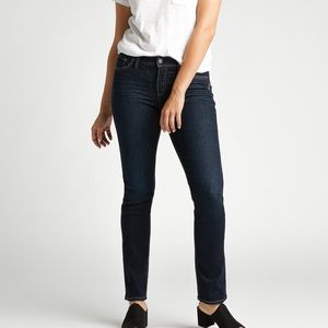 Low Rise Straight Leg Silver Jeans